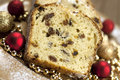 Christmas stollen with several ingredients selective focus traditional raisins cake for anise cinnamon and dried fruits Royalty Free Stock Image