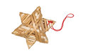 Christmas straw star Royalty Free Stock Images
