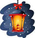Christmas Street Lamp Royalty Free Stock Photography
