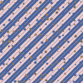 Christmas striped diagonal wrapping paper with stars pattern. seamless background. Design wallpaper for present or gift Royalty Free Stock Photo