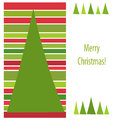Christmas stripes card Royalty Free Stock Images