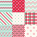 Christmas stripes geometric background seamless graphic texture Stock Photo