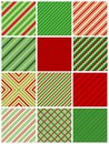 Christmas stripes seamless Stock Photos