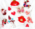 Christmas stuff collection Stock Photos