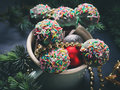 Christmas styled cake pops Royalty Free Stock Photo