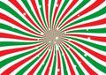 Christmas Sunburst vector background Royalty Free Stock Photo