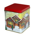 Christmas sweets box with red cover Stock Photography
