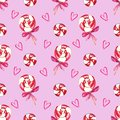 Christmas swirl lollipop Seamless pattern