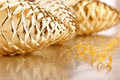 Christmas szkła serpentyna i rożki Obrazy Stock