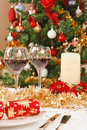 Christmas table Stock Photos