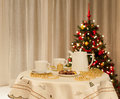 Christmas table Stock Images