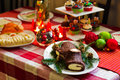 Christmas Table Stock Image