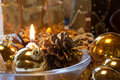 Christmas table decoration Stock Images