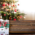 Christmas table series Royalty Free Stock Photo