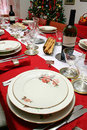 Christmas Table setting Royalty Free Stock Photography