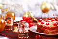Christmas table setting Royalty Free Stock Photo