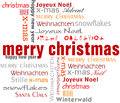 Christmas Tag Cloud Royalty Free Stock Photos