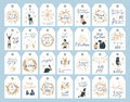 Christmas tag collection. Royalty Free Stock Photo