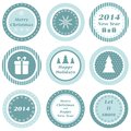 Christmas tags cupcake toppers for and new year Stock Image