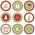 Christmas tags cupcake toppers for and new year Stock Photography