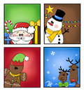 Christmas tags illustration of holiday Royalty Free Stock Images