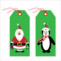 Christmas tags / labels Royalty Free Stock Photo