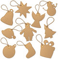 Christmas tags set of related Royalty Free Stock Photography