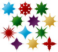 Christmas tags snowflake and ornament shaped Royalty Free Stock Image