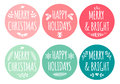 Christmas tags, vector set Royalty Free Stock Photo