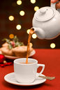 Christmas Teatime Stock Photography