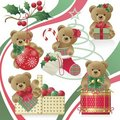 Christmas Teddy Bears Royalty Free Stock Photos