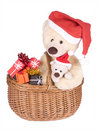 Christmas Teddybears Royalty Free Stock Images