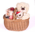 Christmas Teddybears Stock Photography