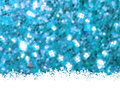 Christmas template on blue glittering. EPS 8 Stock Image