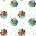Christmas texture with baubles Stock Photography