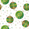 Christmas texture with baubles and dots Stock Photos