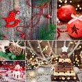 Christmas thematic collage