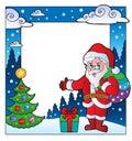 Christmas theme frame 2 Stock Image