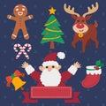 Christmas theme set a of stock vector eps Stock Photo