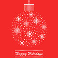 Christmas themed ball holidays card design Royalty Free Stock Photo