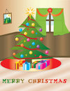 Christmas themed house Royalty Free Stock Photography