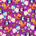 Christmas Themed Seamless Patterned Background Royalty Free Stock Photo