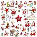 Christmas themes cartoon set Royalty Free Stock Photo