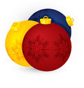 Christmas three  balls vector Stock Photography