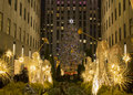 Christmas New York - Christmas tree Rockfeller center Royalty Free Stock Photo