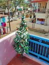 Christmas time in the villiage Tiruvanamalai in India Royalty Free Stock Photo