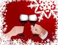 Christmas toast Royalty Free Stock Photo