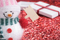 Christmas toy and gift Stock Photography