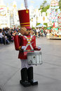 Christmas toy soldier at disneyland during parade playing drum Stock Images