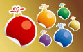 Christmas Toy stickers. Stock Images